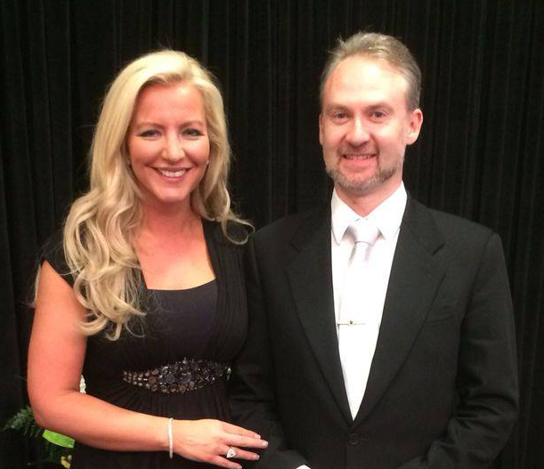 Michelle Mone with John Prendergast cropped